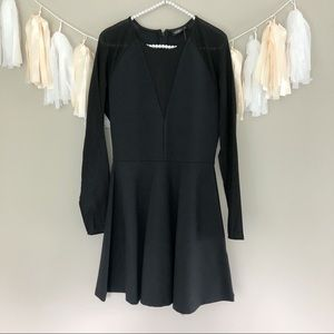 NEW Kate Spade Saturday Sheer Sleeve Flare Dress